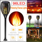 10 Pack 96 LED Waterproof Flickering Flame Solar Torch Light Garden Lamp Outdoor