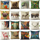 Aminal Printed  Cotton Linen Throw Pillow Case Sofa Car Cushion Cover Home Decor image