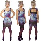 SCUBA WIGGLE PENCIL GALAXY COSMOS DRESS ALTERNATIVE ROCKABILLY GOTHIC