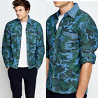 Mens Blue Casual Military Tactical Sports Short Long Sleeves Fast Dry Shirts
