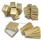Gold Foil Cotton Filled Gift Boxes Jewelry Cardboard Box Lot