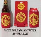FIRE DEPARTMENT CAN Bottle KOOZIE COOLER Wrap Insulator Sleeve Jacket Holder