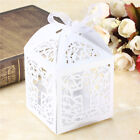 10/50/100pcs Cross Hollow Wedding Party Paper Favor Candy Boxes With RibbonEHZ