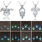 New Women Horse Glow in the Dark Cage Locket Luminous Pendant Necklace Jewellery
