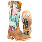Tin Haul Women's Cactilicious Looking Sharp Sole Cowgirl Boots - Square Toe