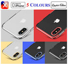 Soft TPU Coloured bumper Clear Logo Back Case Cover For Apple iPhone X 10 New