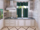 1 Set Silky Insulated Foam Lined Blackout Kitchen Treatment Window Curtain K9