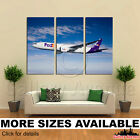 3 Panel Canvas Picture Print - Fedex Airplane Courier Services 3.2