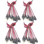 20 Pair -MD 12V DC Power 5.5x2.1mm Pigtail Male Female Cable Plug CCTV LED Light
