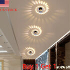 US Spiral 3D LED Wall Sconce Light Fixture Lamp Bulb Porch Bedroom Disco Bar NEW