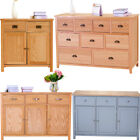 Panana Oak Sideboard Wood Storage Cabinet Chest Of Drawers Large Cupboard