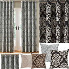 Hallam Damask Lined Ring Top Curtains (pair Of) - Now £10, £15 & £20 To Clear