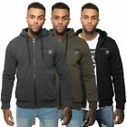 Rawcraft Mens Casual Fleece Lined Sweatshirt Hoodie Zip Up Hooded Jacket Coat