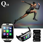Q18 Bluetooth Smart On with camera Sim Card Slot GSM for Android phone IOS