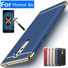 For Huawei Honor 6X / GR5 2017 Shockproof Slim Hard Case Cover + Tempered Glass
