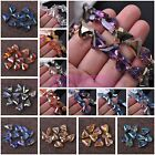 10pcs Heart Faceted Spacer Loose Glass Beads Charms Jewelry Finding 12/18/22mm