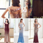 Long Sequins Mermaid Pageant Formal Evening Dresses Celebrity Ball Gown 08999