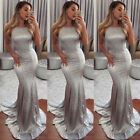 US New Long Bridesmaid Formal Gown Ball Party Cocktail Evening Prom Dress