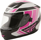 FLY STREET CONQUEST Retro Full-Face Motorcycle Helmet (Pink/Blk/Wht) Choose Size