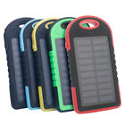 5000mAh Portable Travel Solar Power Bank Charger for Mobile Cell Phone Iphone US