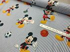100% premium quality mickey mouse disney stripe  fabric material 140cm wide