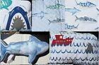 SHARKS ~ SHARK QUILT 6-10pc TWIN or FULL/QUEEN ~ SHEETS ~ THROW PILLOWS ~BLUE