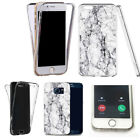 360° full body case for huawei & other mobiles -slick marble