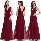 Ever-pretty Long Women V-neck Bridesmaid Wedding Dresses Evening Prom Gown 09016