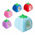 Soft Strawberry Pet Dog Cat Bed House Kennel Doggy Warm Cushion Basket 3 Sizes