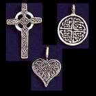 Celtic Cross, Circle, or Heart Necklace Charm Chain Pewter Pendant Fellowship US