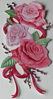 Set of 10 Tattered Lace Charisma Rose Flowers 250gsm Die Cuts - 10 Colours/Mixed