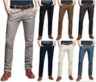 Stallion Herren Chino Hose Regular Slim Fit Stretch Chinohose Business Casual