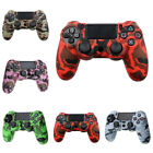 Silicone Protective Skin Cover + Joystick Cap For PS4 Playstation 4 Controller