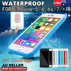 Waterproof Dirt/Shockproof Thin Tough Case Cover For iPhone 8 7 Plus 6S 5S SE X
