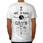 Wellcoda Normal 3 Cats Ago Funny Mens T-shirt, 0 Graphic Design on the Back