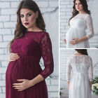 US Stock Sexy Maternity Maxi Gown Photography Photo Fancy Lace Maternity Dresses