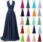 Long Chiffon Evening Formal Party Ball Gown Prom Bridesmaid Dress Size 6-20 New
