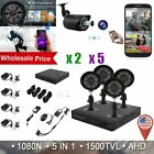 LOT 4CH 1080N HDMI Home Security Camera System +4*720P Outdoor CCTV Video DVR OY