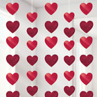 Valentines Heart decorations hanging red pink heart swirls balloons pub shop