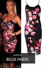 Womens Celebrity Inspired Dress Ladies Floral Lace Trim Midi Bodycon Party Dress