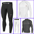 Activ8 Mens Thick Compression Long Sleeve Pants Set Baselayer Quick Dry Sports