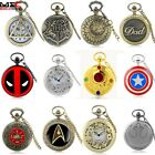 Vintage Design Steampunk Pocket Watch Quartz Pendant Necklace Men's Retro Gift image
