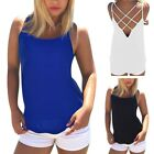 Women Backless Vest Shirt Ladies Camisole Tank Tops Summer Casual Loose Blouse