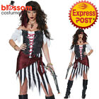 CA510 Pirate Beauty Wench Buccaneer Caribbean Swashbuckler Womens Dress Costume