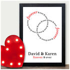 Valentines Gifts for Him & Her - Infinity I Love You Forever Personalised Prints