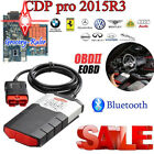Bluetooth 2015 R3 Car Auto Truck Diagnostic OBD2 Code Scanner Software Tool Blue