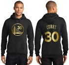 New Golden State Warriors Steph Curry or Kevin Durant Black Hoodie Gold / Silver <br/> 2018 NBA FINALS CHAMPS CHAMPIONS Youth and Men&#039;s Dubs