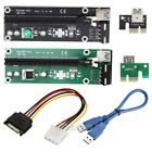 PCI-E Express USB 3.0 1x to 16x Extender Riser Card Adapter SATA 6Pin Cable US
