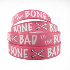 22MM,PRINTED GROSGRAIN RIBBON,BAD TO THE BONE,GIRL,DOG LEAD,CAKES,GIFT WRAP,BOW