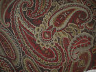 Fabric Richloom Upholstery Drapery Fenmore Rustic Paisley Jacquard Tapestry 32GG